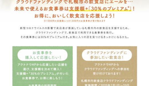 「第2弾札幌の飲食店を応援しよう!」のクラウドファンディングに さっぽろっこも参加しております。